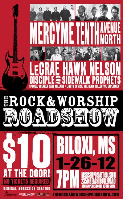 rock and worship roadshow  flyer