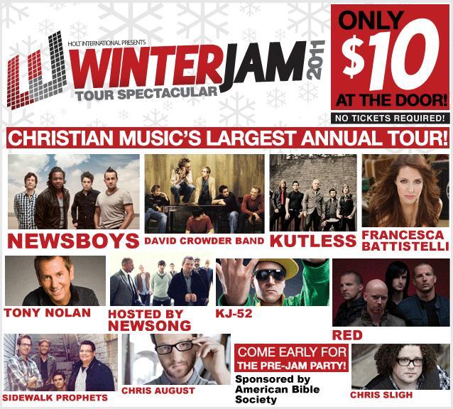 Христианский тур Winter Jam 2011 Tour, США