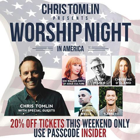 Chris Tomlin Ticket Promo
