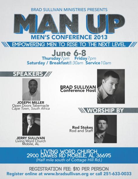 Man Up - Men's Conference 2013